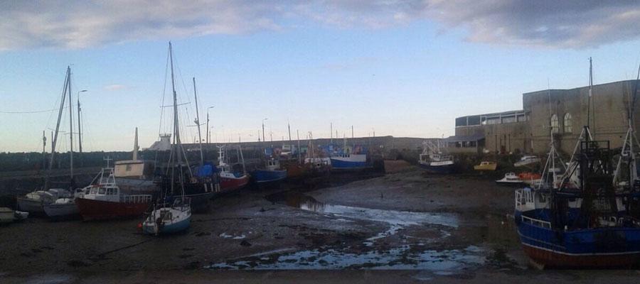 de paseo por el puerto de Balbriggan.. Balbriggan Harbour
