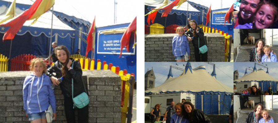 Amaia and Katie at the circus in Drogheda