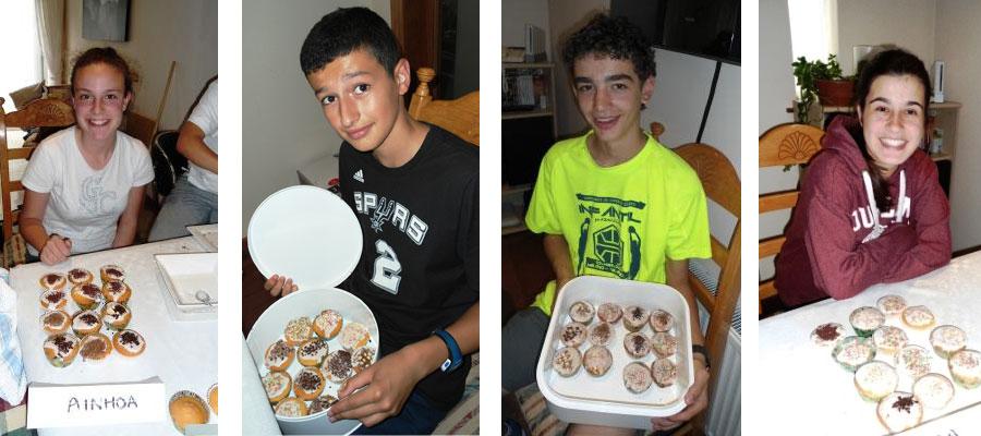 en el segundo grupo Ainhoa, Jon Lejardi, Jon Mendivil y Marta nos enseñan sus cupcakes