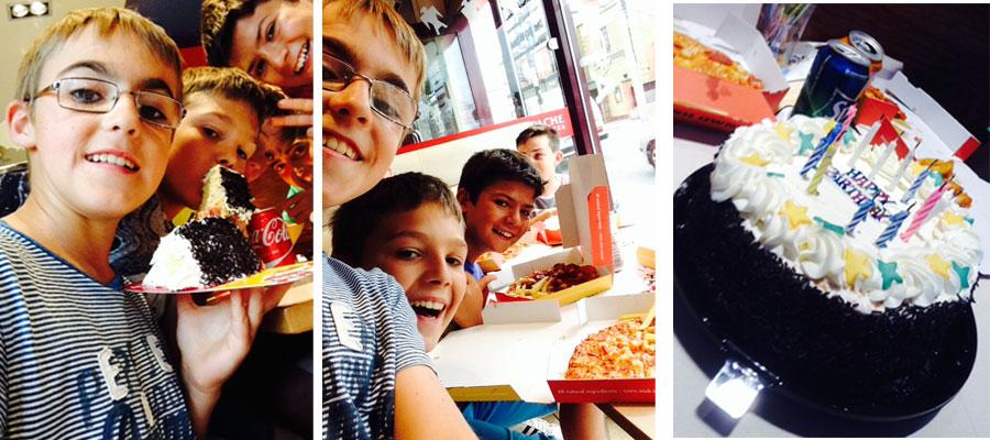 que bien lo pasamos en el cumple pizzero de Javi!!