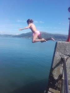 PAULApier jumping in carlingford on our camping trip