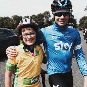 Aritz with Nicholas Roche