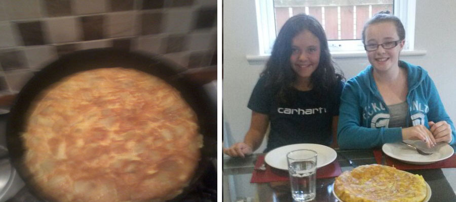 Esti cooked spanish omelette... and looks great!