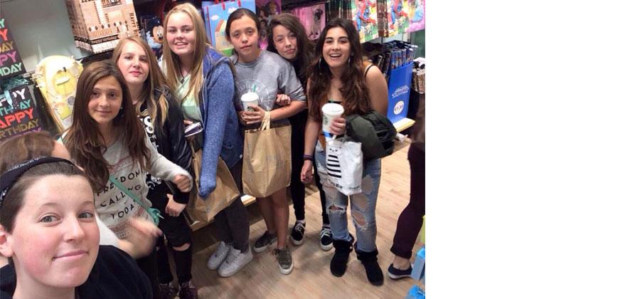 Girls shopping in Swords