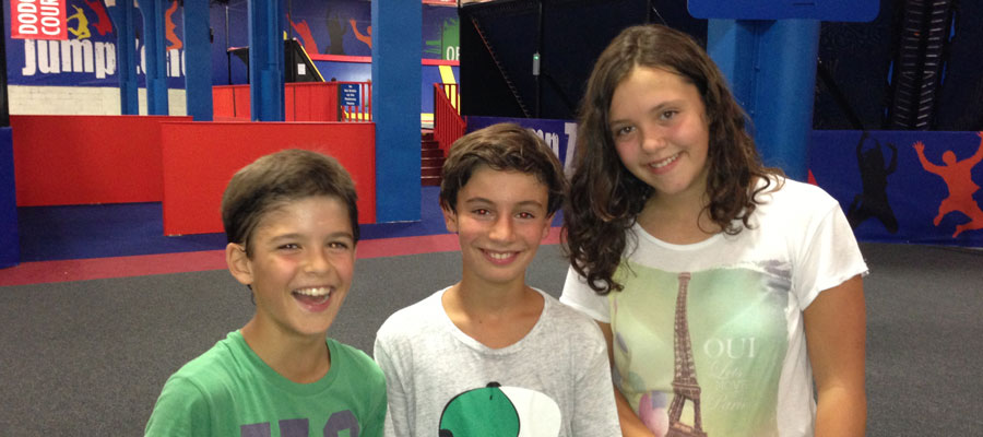with Esti and Marcos at JumpZone